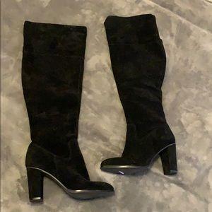 Arturo Chiang Knee High Black Boots